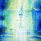 Blue Skeleton Meditation by HCalderonArt
