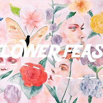 Flower Feast by redbulby