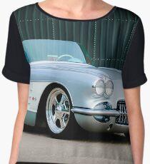 1960 Chev vette -0001c Women's Chiffon Top