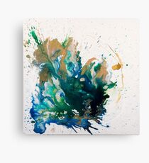 Alice In Spring - Fluid Painting Canvas Print