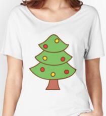 Cartoon Christmas Tree Women's Relaxed Fit T-Shirt