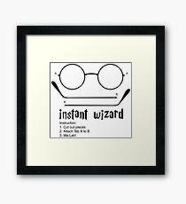 instant wizard Framed Print