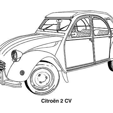 2 CV classic car  by Boxzero
