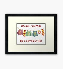 weasley christmas Framed Print