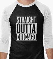 Straight Outta Chicago Shirt, Lovers Chicago City T-Shirt Men's Baseball ¾ T-Shirt