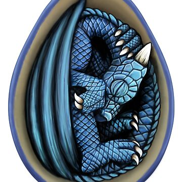 Dragon Egg - Blue and Turquoise by Art-by-Aelia