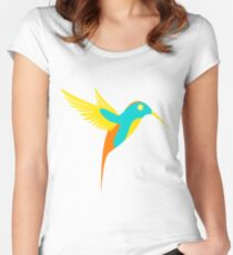 Coloured Bird Women's Fitted Scoop T-Shirt