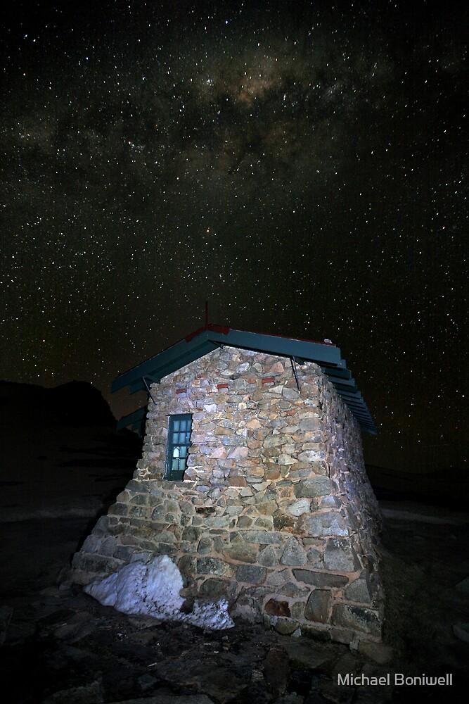 Star Filled Night, Seamans Hut, Mt Kosciusko, Australia by Michael Boniwell