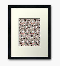 pattern amusing lovers robots Framed Print