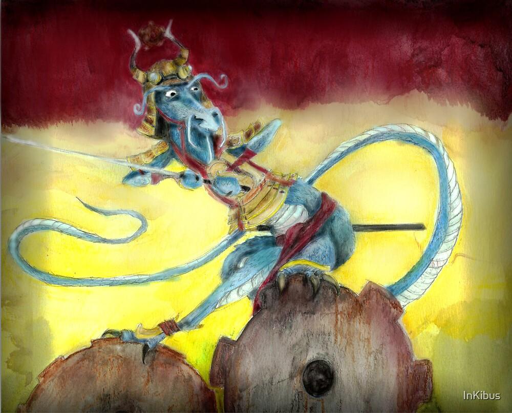 Samurai Steampunk Dragon by InKibus