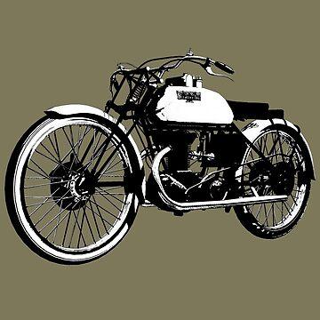 Bianchi - Freccia Celeste 350cc vintage motorcycle by Boxzero