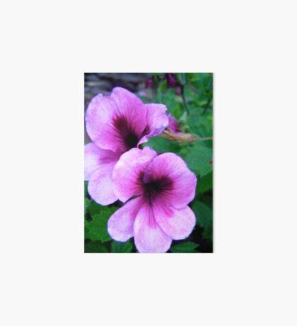 Purple Flowers Art Board