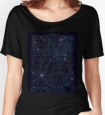 USGS TOPO Map Illinois IL Eldorado 309434 1906 62500 Inverted Women's Relaxed Fit T-Shirt