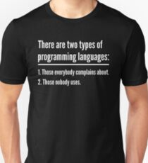 There Are Two Types of Programming Languages - Green Design T-Shirt