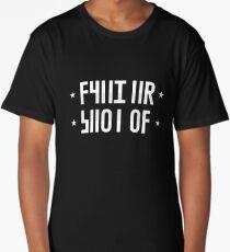 SHUT UP hidden message (white) Long T-Shirt