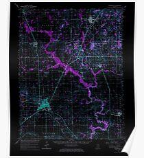 USGS TOPO Map Illinois IL Eldorado 309435 1963 62500 Inverted Poster