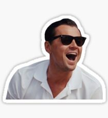The Wolf of Wall Street - Laughing Sticker Sticker