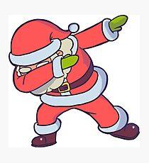 Dabbing Santa Funny Santa Clause in Dab Hip Hop pose Photographic Print