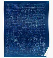 USGS TOPO Map Illinois IL Eldorado 309436 1906 62500 Inverted Poster