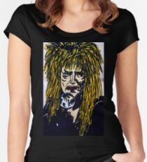 Jareth The Goblin King Labyrinth - Print Women's Fitted Scoop T-Shirt