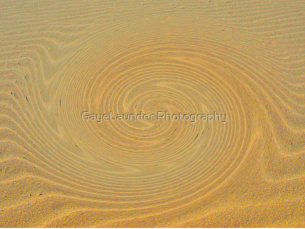 Circles in the Sand by GayeLaunder Photography
