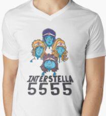 Interstella 5555, daft punk Men's V-Neck T-Shirt