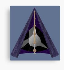 Materialized Deathly Hallows  Canvas Print