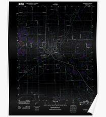 USGS TOPO Map Illinois IL Eldorado 20120807 TM Inverted Poster