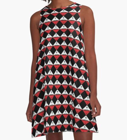 Spontaneously Combustible Warning Sign A-Line Dress