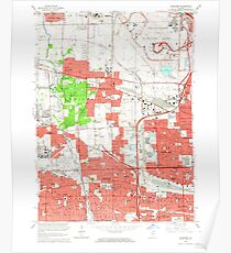 USGS TOPO Map Illinois IL Elmhurst 307508 1963 24000 Poster