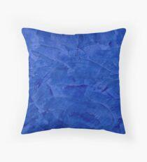 Tuscan Blue Venetian Plaster Throw Pillow