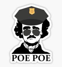 Funny Edgar Allan Poe Poe Police Sticker