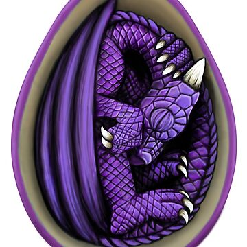 Dragon Egg - Purple by Art-by-Aelia
