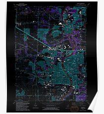 USGS TOPO Map Illinois IL Elgin 307491 1992 24000 Inverted Poster