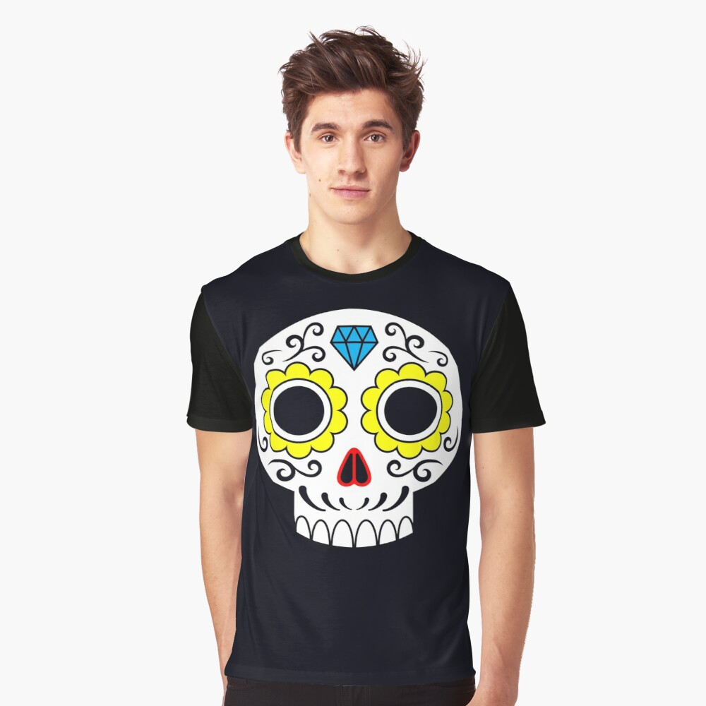 Sugar skull for a cake Graphic T-Shirt Front
