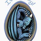 Dragon Egg - It's a Boy Gender Reveal by Art-by-Aelia