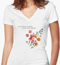 Call Me By Your Name - Inscription Women's Fitted V-Neck T-Shirt