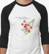 Camiseta ¾ bicolor para hombre Llámame por tu nombre - Inscripción