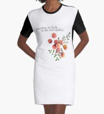 Call Me By Your Name - Inscription Graphic T-Shirt Dress