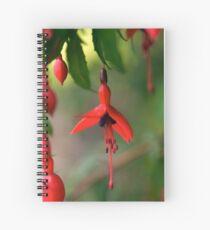 Single Wild Fuchsia Flower, Loch Na Fooey Spiral Notebook