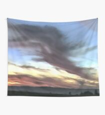 COYOTE AT DUSK Wall Tapestry
