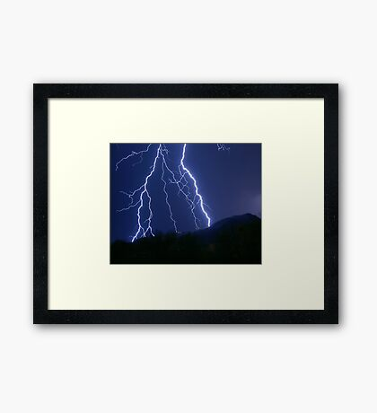 Nature's Raw Power Framed Print