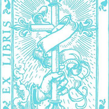 Cross Banner & Fleur De  Lys Art by Zehda