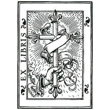 Ex Libris Cross & Fleur De Lys by Zehda