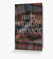 Tarjeta de felicitación Feliz cumpleaños Sassenach