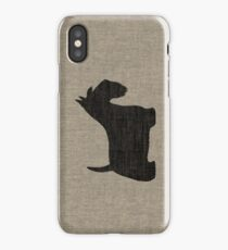 Scottish Terrier Silhouette(s) iPhone Case