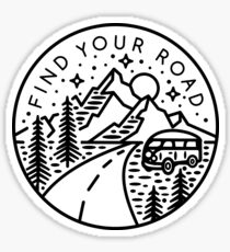 Find Your Road Sticker