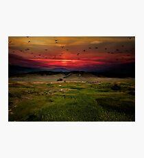 Montana Mountain Sunset  Photographic Print
