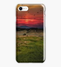 Montana Mountain Sunset  iPhone Case/Skin
