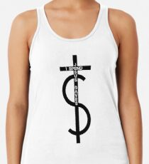 Jesus saves. I spend. (Black) Women's Tank Top